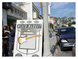 Black Market Guitars in Los Angelos
