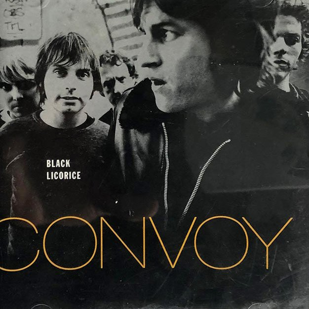 Design for cover of Convoy's Black Licorice album