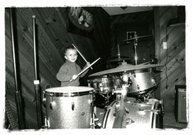Mickey Hofstetter on the Drums